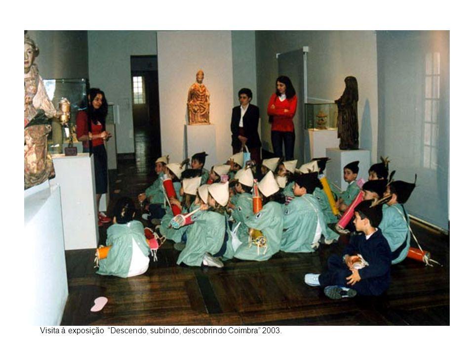 Serviço educativo: Visita à exposição Descendo, subindo, descobrindo Coimbra 2003.