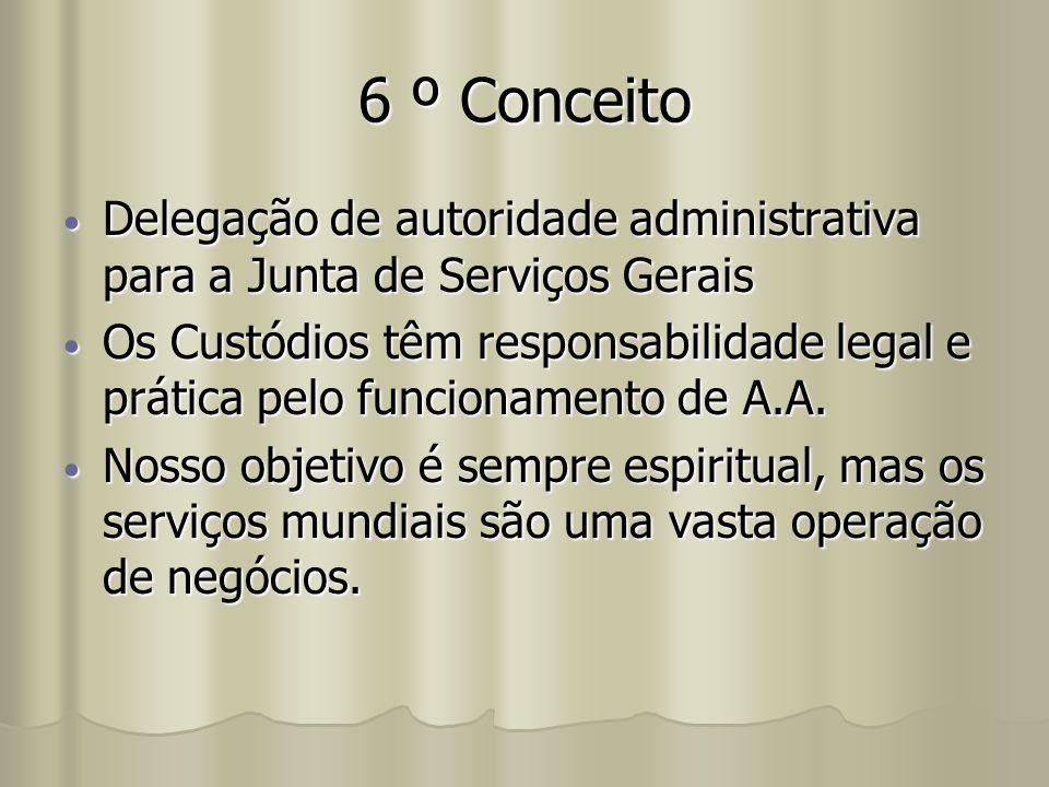 6 º Conceito Delegação de autoridade administrativa para a Junta de Serviços Gerais Delegação de autoridade administrativa para a Junta de Serviços Ge
