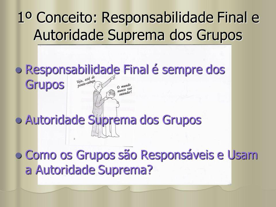 Responsabilidade Final é sempre dos Grupos Responsabilidade Final é sempre dos Grupos Autoridade Suprema dos Grupos Autoridade Suprema dos Grupos Como