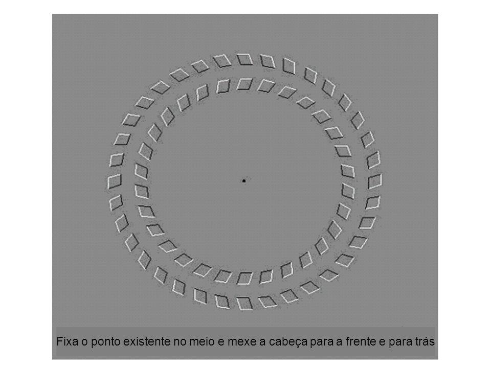 Fixa o ponto existente no meio e mexe a cabeça para a frente e para trás