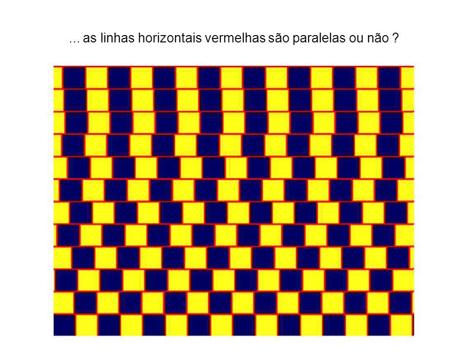... as linhas horizontais vermelhas são paralelas ou não ?