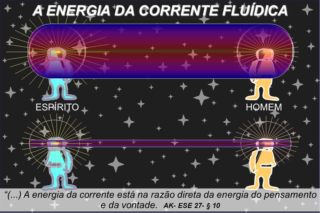 """A ENERGIA DA CORRENTE FLUÍDICA """"(...) A energia da corrente está na razão direta da energia do pensamento e da vontade. AK- ESE 27- § 10 ESPÍRITOHOMEM"""