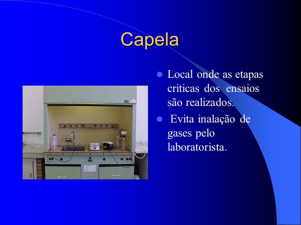 Autoclave Auxilia na digestão dos alimentos. A vapor. Pressão de trabalho de 1,5 Kgf/cm² Capacidade de 75 L. Capacidade de 8 amostras em Becker de 2 L