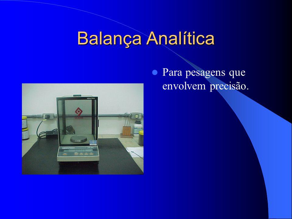 Balança semi-analítica Utilizada para pesagem de amostras para os ensaios macroscópicos e microscópicos.