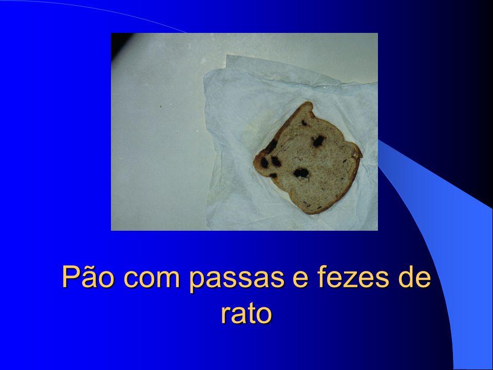 Pão com fezes de rato