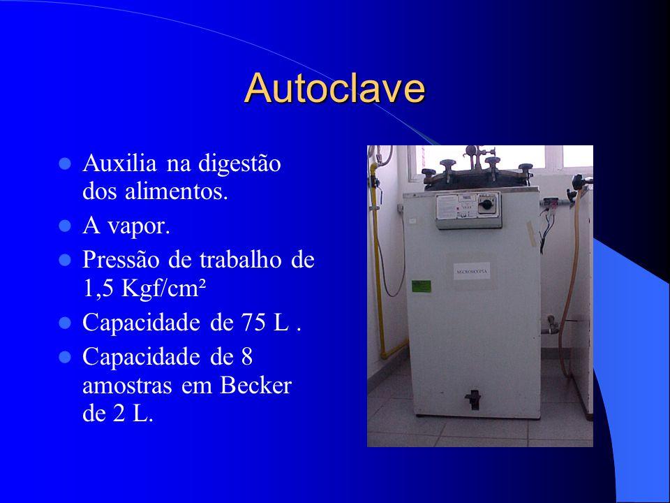 Autoclave Auxilia na digestão dos alimentos.A vapor.