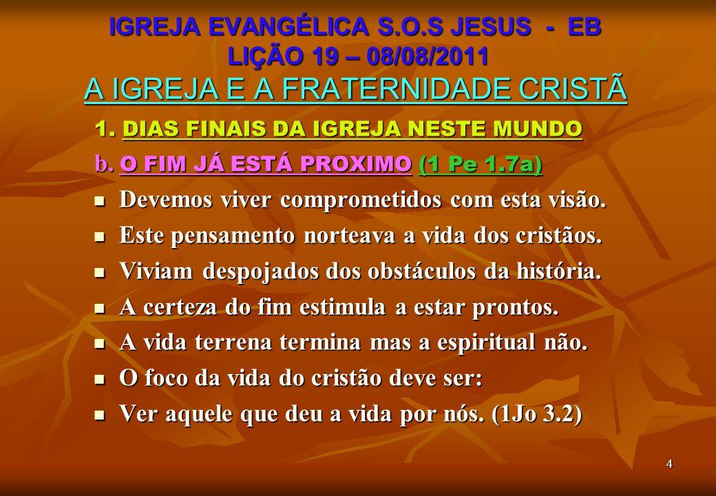 15 C O N C L U S Ã O I A ORGANIZAÇÃO DA IGREJA REVELA: A ORGANIZAÇÃO DA IGREJA REVELA: A graça de Deus ou A graça de Deus ou Ausência dela.