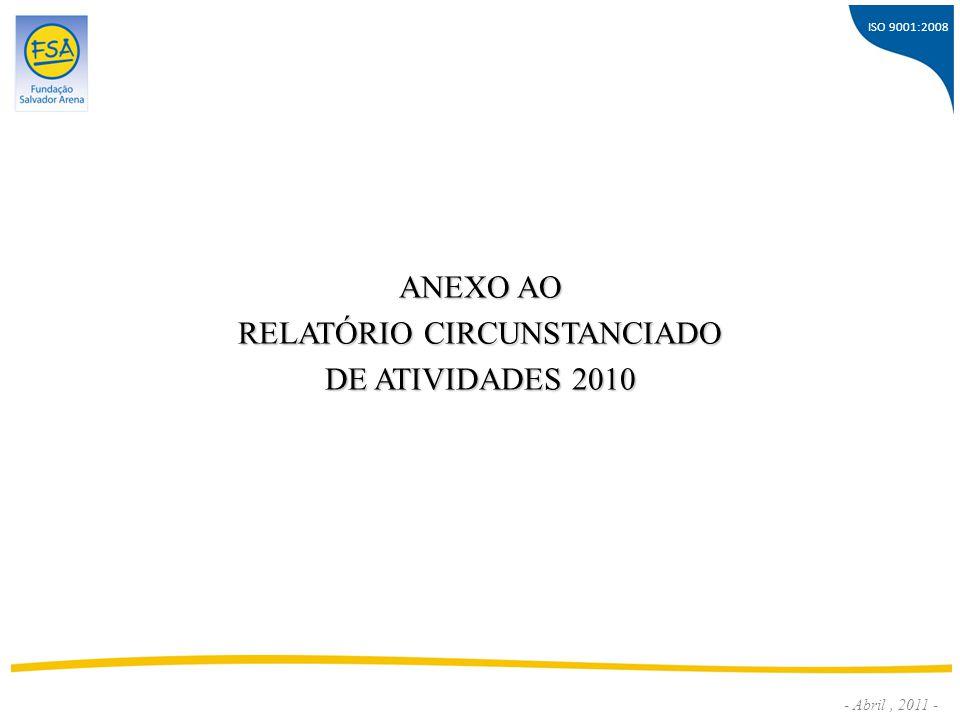 ISO 9001:2008 - Abril, 2011 - ANEXO AO RELATÓRIO CIRCUNSTANCIADO DE ATIVIDADES 2010