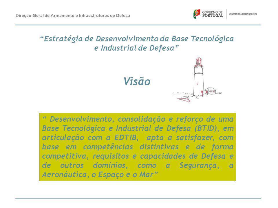 """"""" Desenvolvimento, consolidação e reforço de uma Base Tecnológica e Industrial de Defesa (BTID), em articulação com a EDTIB, apta a satisfazer, com ba"""