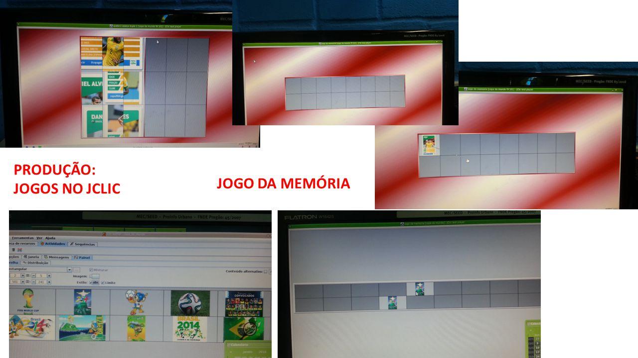 PRODUÇÃO: JOGOS NO JCLIC JOGO DA MEMÓRIA