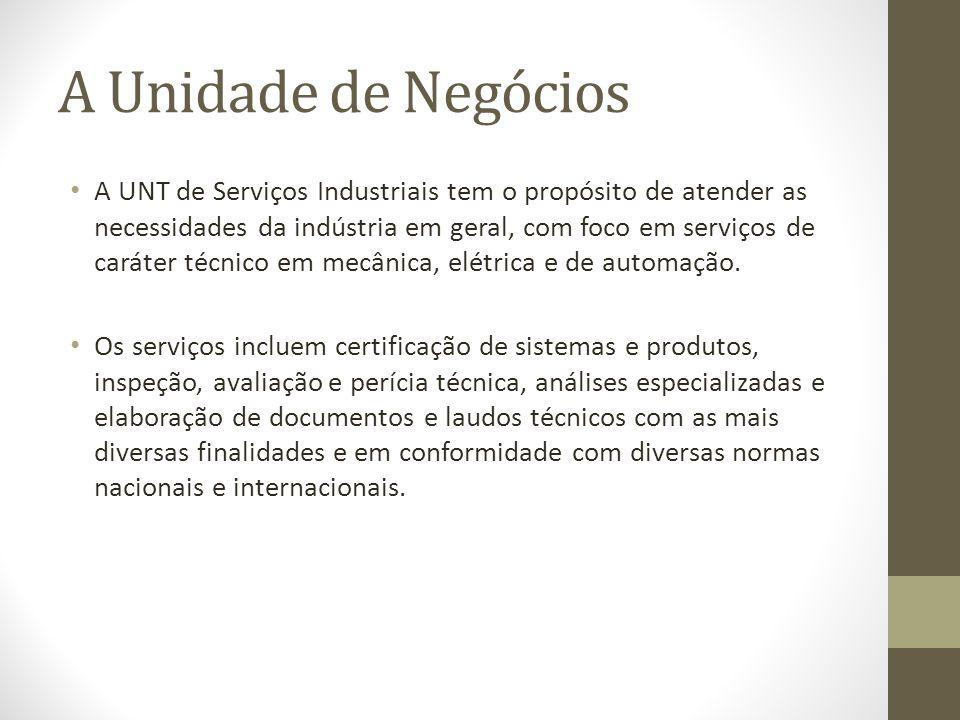 A Unidade de Negócios A UNT de Serviços Industriais tem o propósito de atender as necessidades da indústria em geral, com foco em serviços de caráter