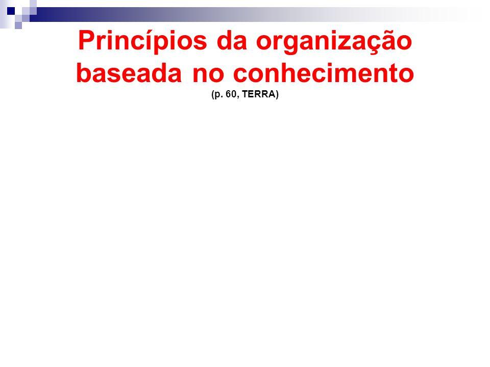 Princípios da organização baseada no conhecimento (p. 60, TERRA)