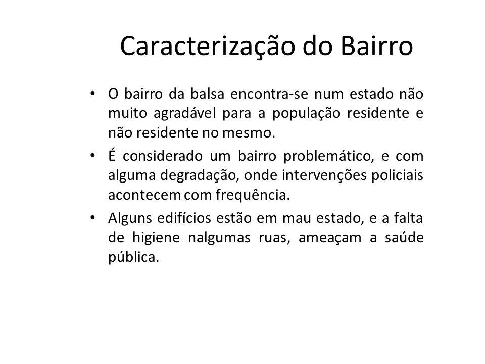 Caracterização do Bairro O bairro da balsa encontra-se num estado não muito agradável para a população residente e não residente no mesmo.