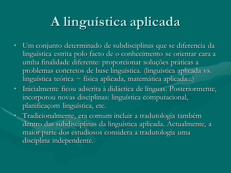 A linguística aplicada à traduçom Alguns autores, como é o caso de Isabel García Izquierdo, afirmam que existe um espaço interdisciplinar entre a tradutologia e a linguística aplicada, onde talvez caberia situar a linguística aplicada à traduçom.Alguns autores, como é o caso de Isabel García Izquierdo, afirmam que existe um espaço interdisciplinar entre a tradutologia e a linguística aplicada, onde talvez caberia situar a linguística aplicada à traduçom.