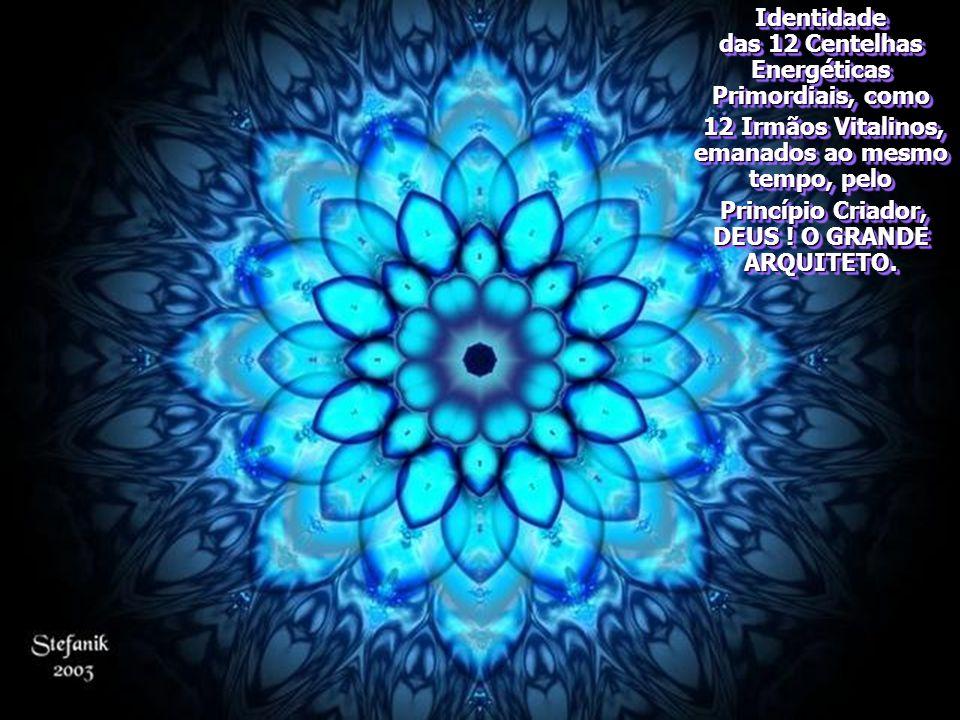 Identidade das 12 Centelhas Energéticas Primordiais, como 12 Irmãos Vitalinos, emanados ao mesmo tempo, pelo 12 Irmãos Vitalinos, emanados ao mesmo tempo, pelo Princípio Criador, DEUS .
