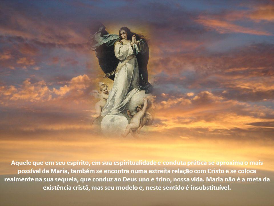 """Ela tem lugar quando alguém se insere nele, cabeça do corpo, videira para os sarmentos. A salvação consiste neste """"estar em"""". A Mãe do Senhor constitu"""