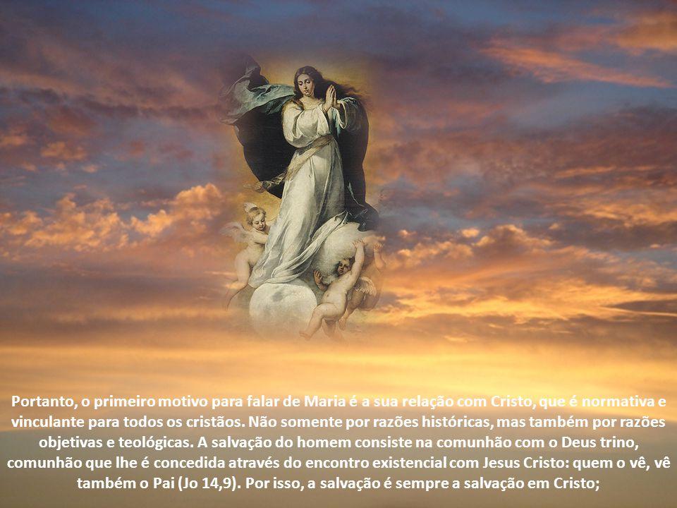 Neste período percebeu-se também com muita rapidez a função eclesiológica de Maria: qual seja o significado da Igreja e qual seja sua relação com Cris