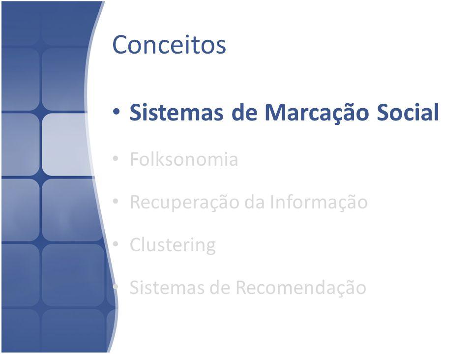 Sistemas de Marcação Social Tags Motivação – Recuperar Informação futuramente – Compartilhar – Expressar opiniões