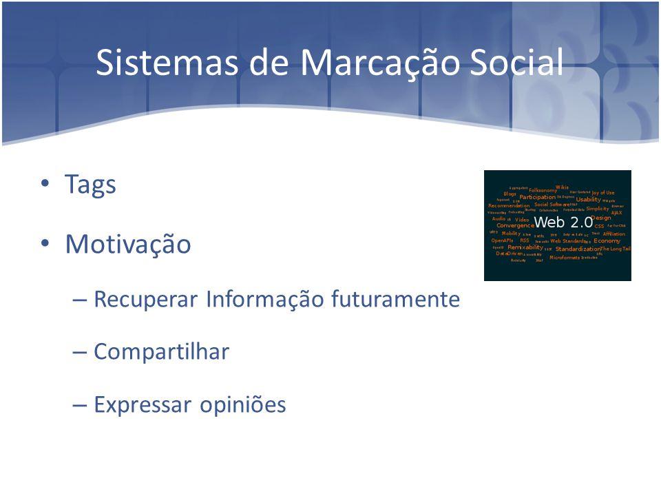 Sistemas de Marcação Social (cont.)