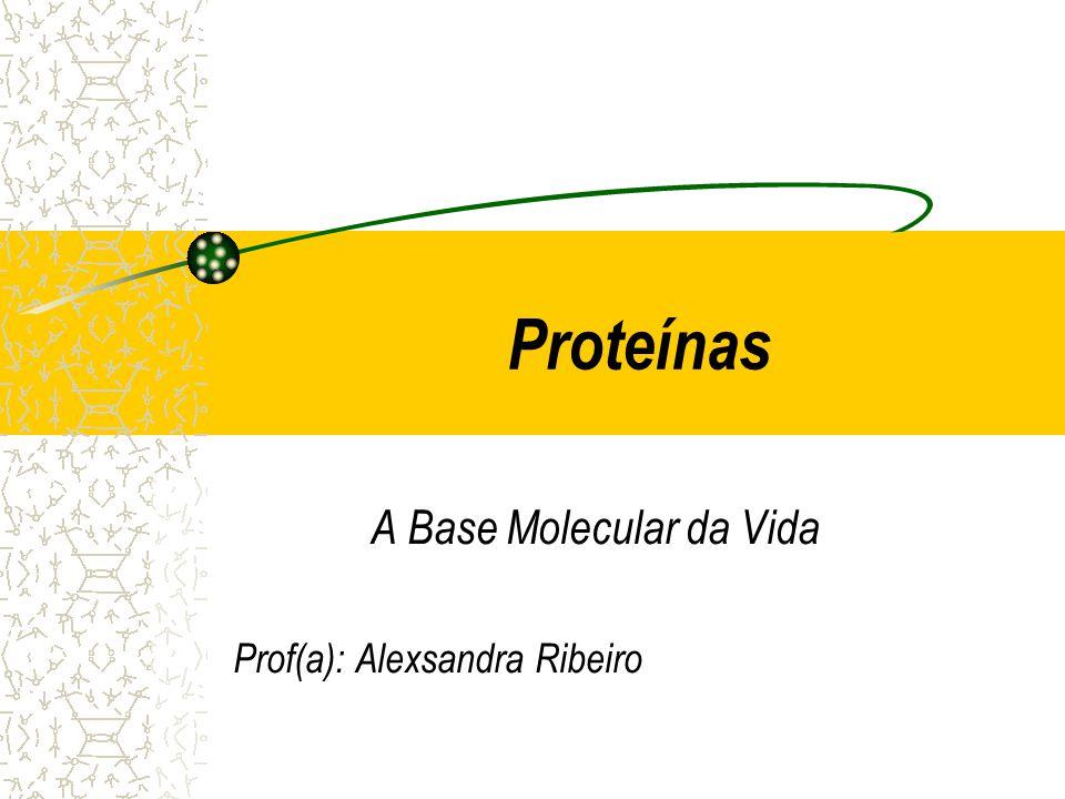 Proteínas A Base Molecular da Vida Prof(a): Alexsandra Ribeiro