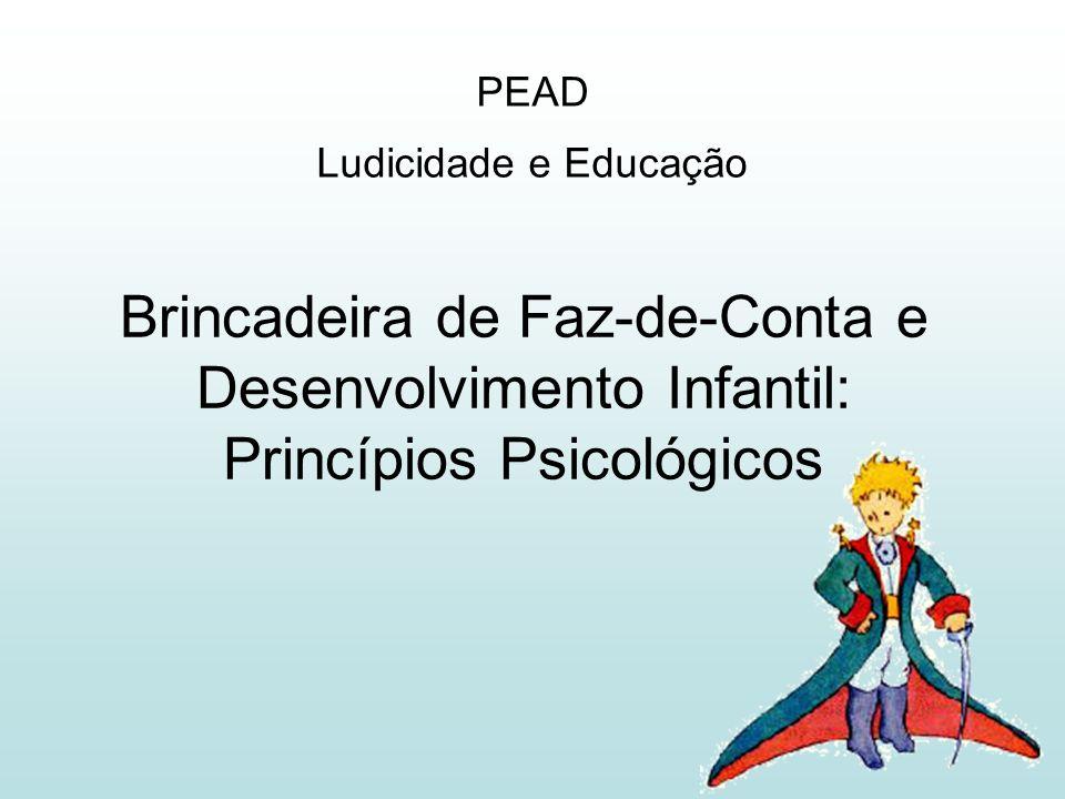 Brincadeira de Faz-de-Conta e Desenvolvimento Infantil: Princípios Psicológicos PEAD Ludicidade e Educação