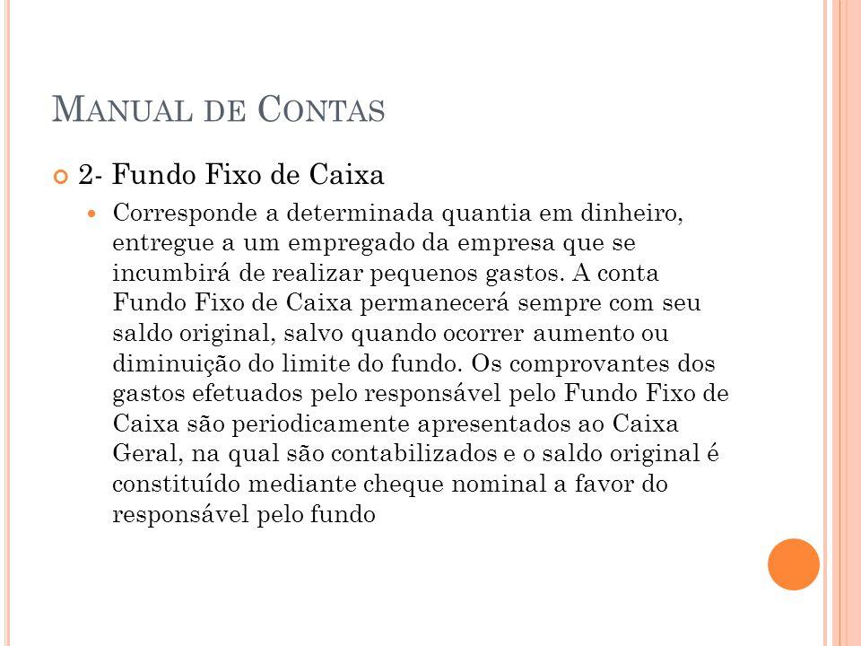 M ANUAL DE C AIXA 3- Numerários em Trânsito Compreendem as disponibilidades que, embora de propriedade da empresa, até a data do Balanço não integraram o saldo do caixa ou de bancos.