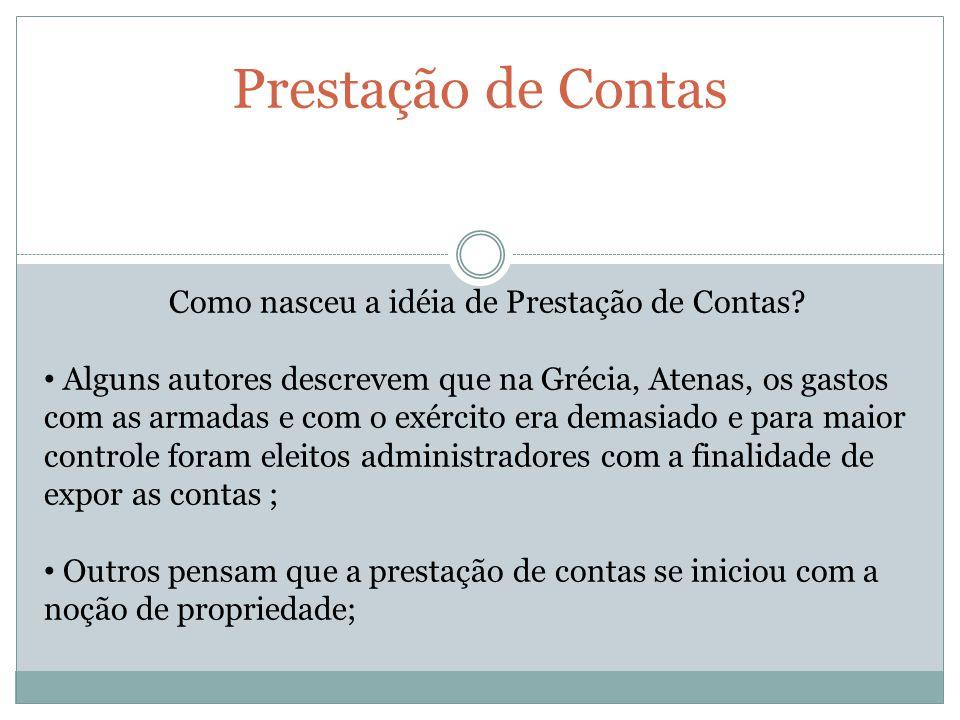 Prestação de Contas No Brasil.