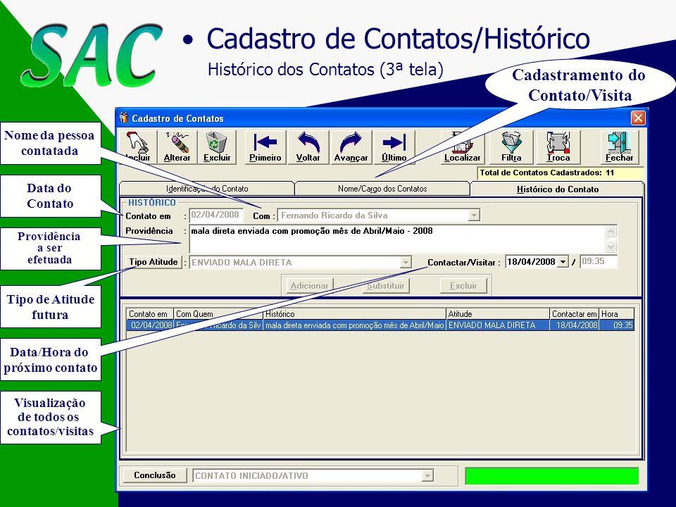 Nextel Cadastro de Contatos Contatos no Parceiro (2ª tela) Cargos definido pelo usuário Telefones/Aniversário do contato no parceiro Fácil acesso a to
