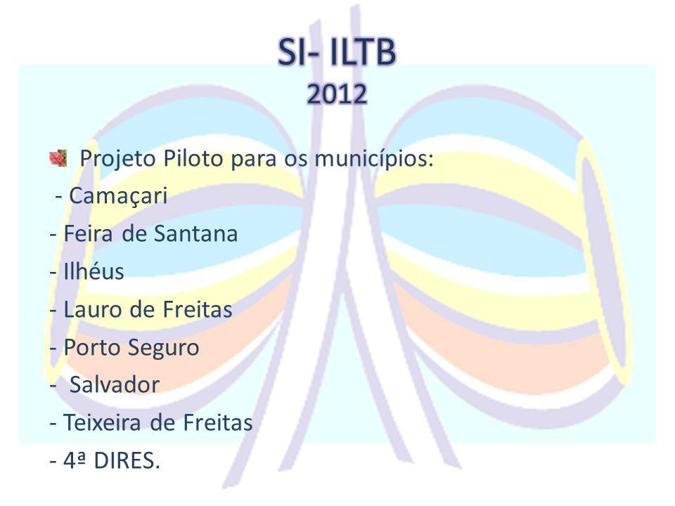 Projeto Piloto para os municípios: - Camaçari - Feira de Santana - Ilhéus - Lauro de Freitas - Porto Seguro - Salvador - Teixeira de Freitas - 4ª DIRE