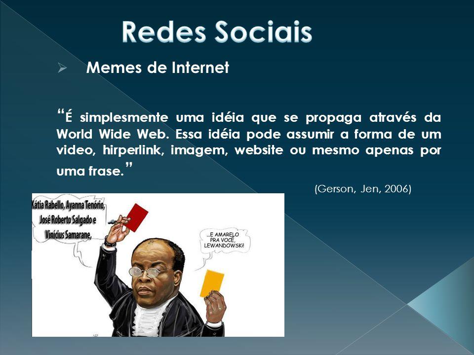  Memes de Internet É simplesmente uma idéia que se propaga através da World Wide Web.