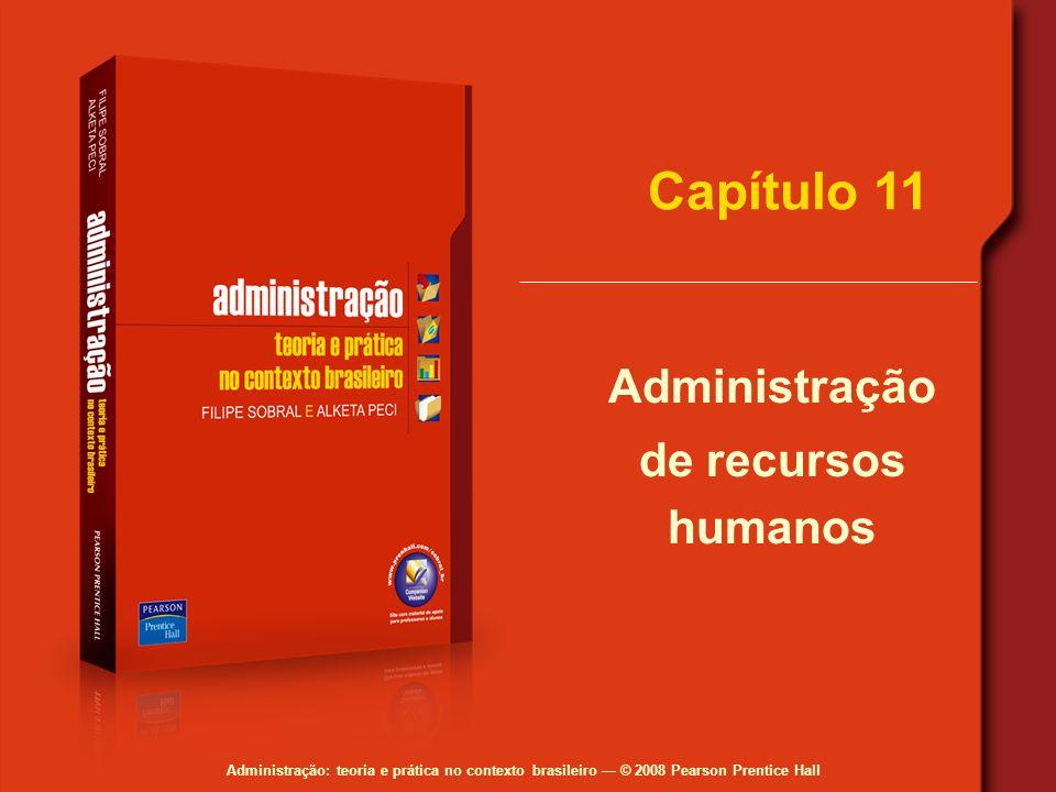 Administração: teoria e prática no contexto brasileiro — © 2008 Pearson Prentice Hall Capítulo 11 Administração de recursos humanos