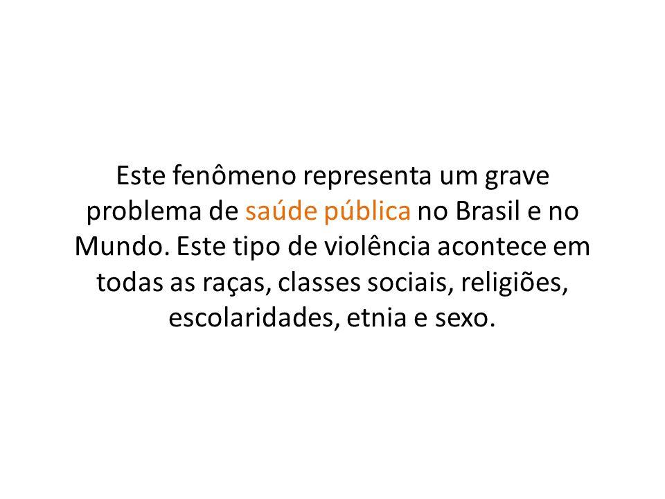 Este fenômeno representa um grave problema de saúde pública no Brasil e no Mundo.