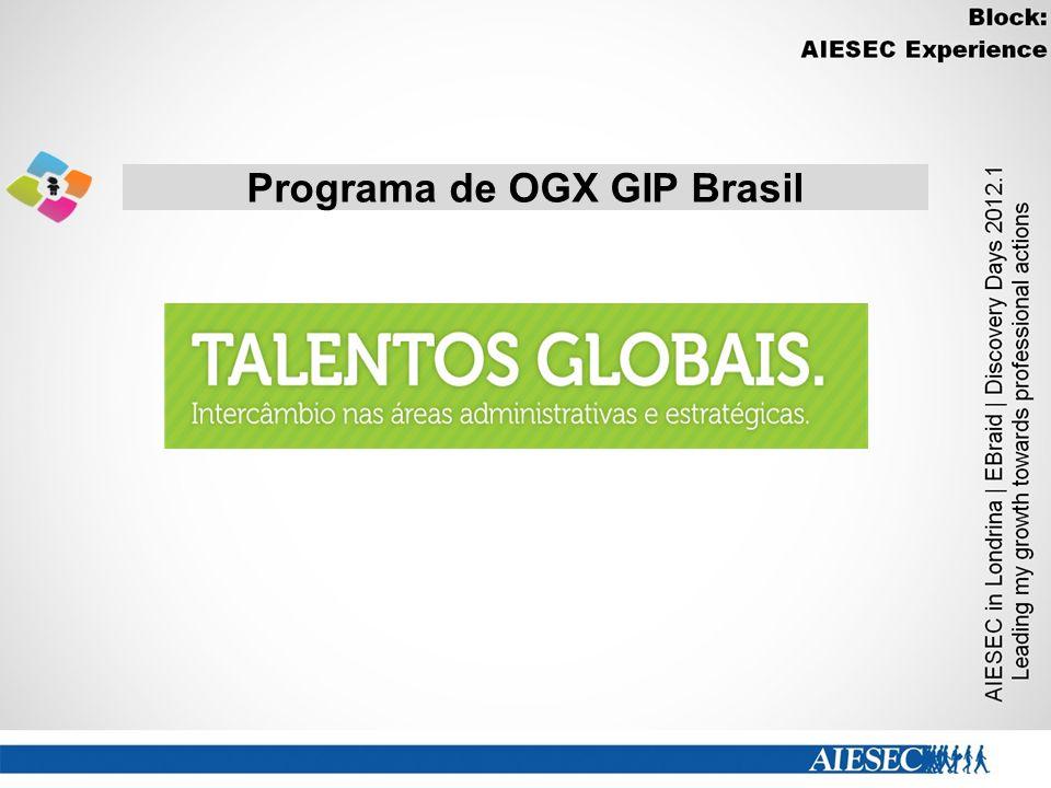 Programa de OGX GIP Brasil