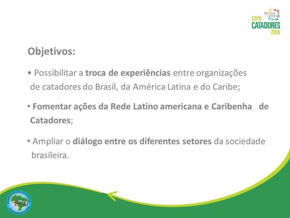 Articular uma agenda comum latino americana para o desenvolvimento integrado dos movimentos sociais; Disseminar conhecimentos e conquistas políticas e tecnológicas para o fortalecimento da classe.