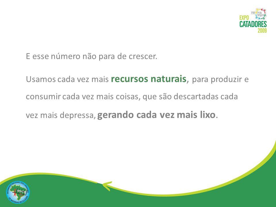 Neste cenário, a atuação dos Catadores de materiais recicláveis se faz indispensável para diminuir os impactos de um modo de vida insustentável.