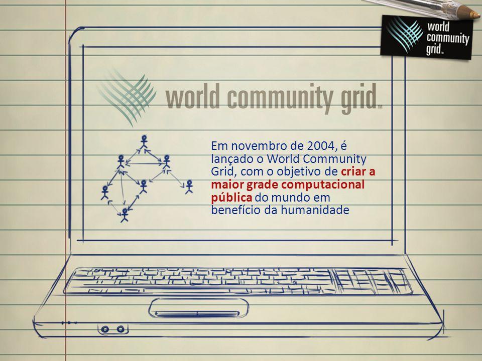 Em novembro de 2004, é lançado o World Community Grid, com o objetivo de criar a maior grade computacional pública do mundo em benefício da humanidade