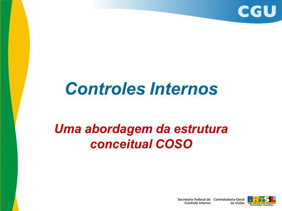 Controles Internos Uma abordagem da estrutura conceitual COSO