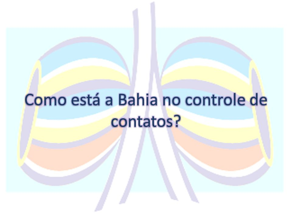 Série Histórica do percentual de contatos examinados, Bahia, 2009- 2012 Fonte: SESAB/DIS/SINAN - Sistema de Informação de Agravos de Notificação