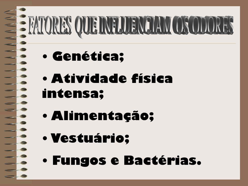 Genética; Atividade física intensa; Alimentação; Vestuário; Fungos e Bactérias.