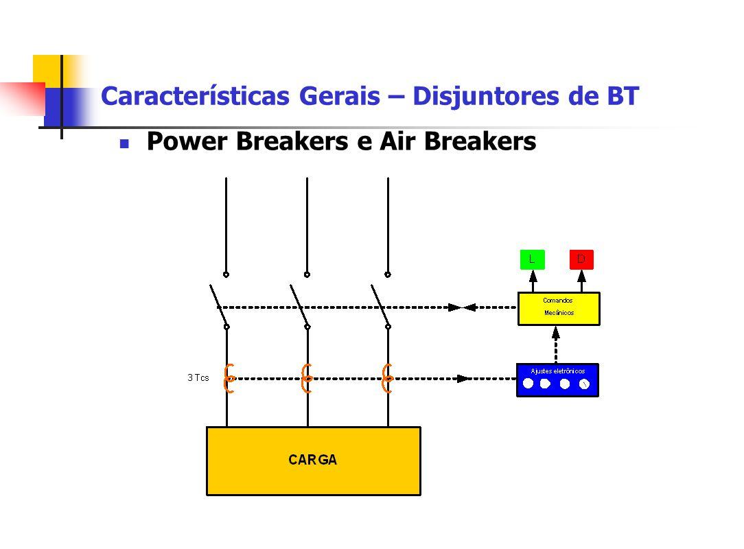 Características Gerais – Disjuntores de BT Power Breakers e Air Breakers