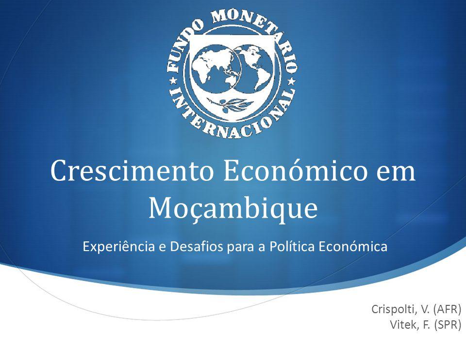 Objectivos da apresentação Fazer um balanço da experiência do crescimento de Moçambique nos últimos quinze anos, examinando os factores que contribuíram para o crescimento e traçando paralelos com a experiência de outros países.