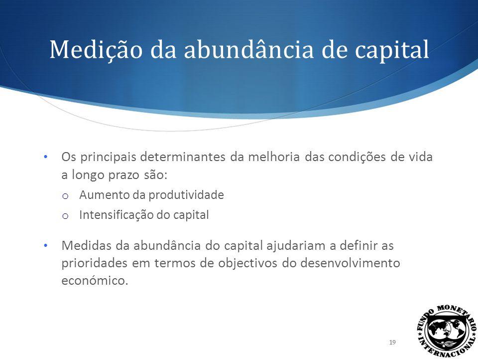 Construímos índices da intensidade do stock de capital com uma análise das principais componentes 20 Agregamos os indicadores observados da abundância de capital físico privado, capital físico público e capital humano em relação a outros factores de produção.