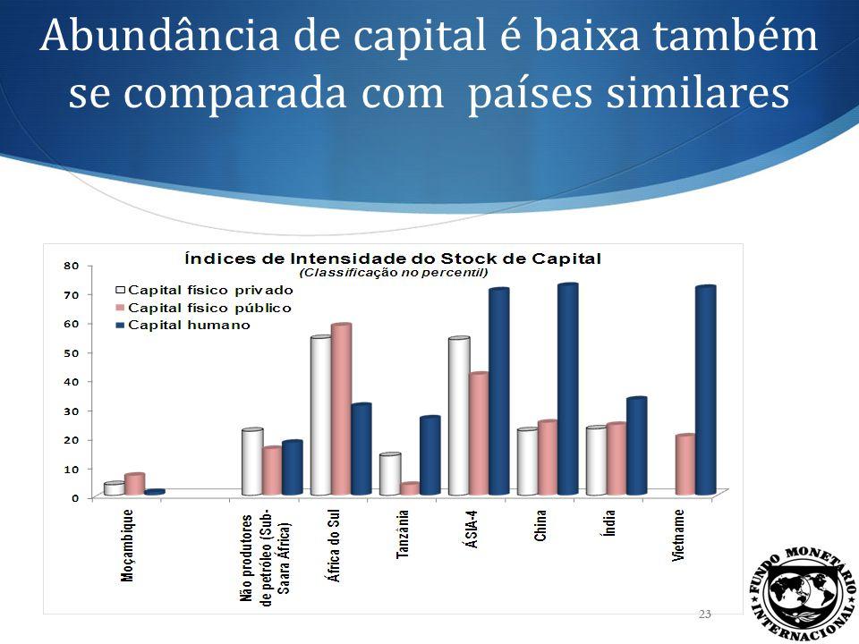 O vínculo entre investimento e crescimento Realizamos uma análise empírica dos determinantes das condições de vida em Moçambique.