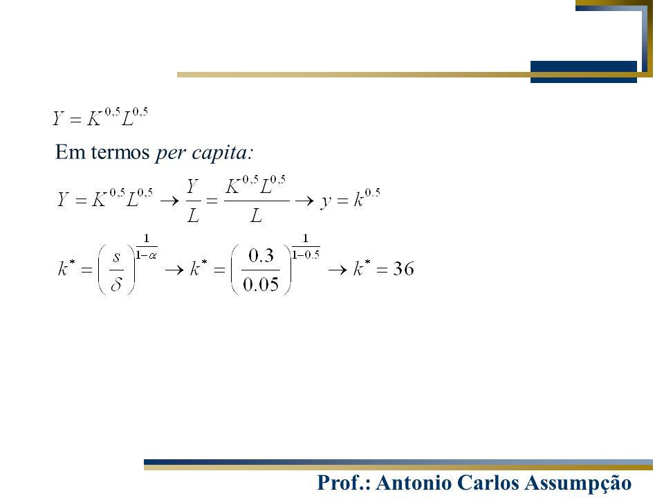 Prof.: Antonio Carlos Assumpção Em termos per capita: