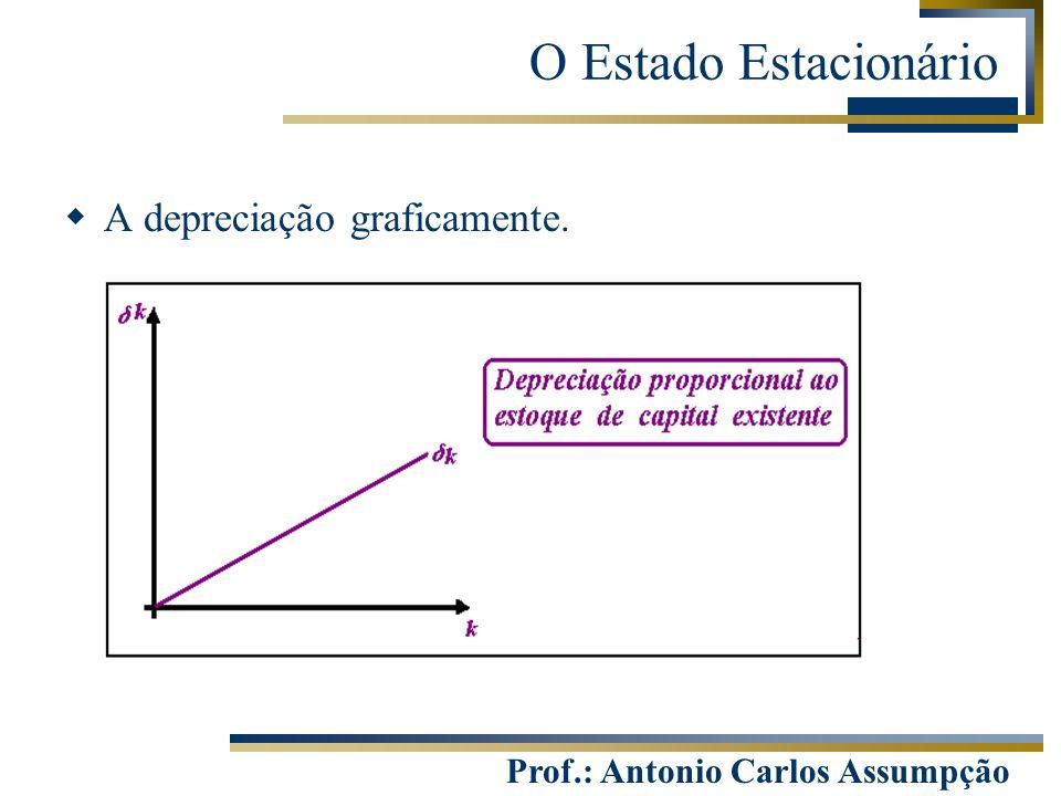 Prof.: Antonio Carlos Assumpção  A depreciação graficamente. O Estado Estacionário