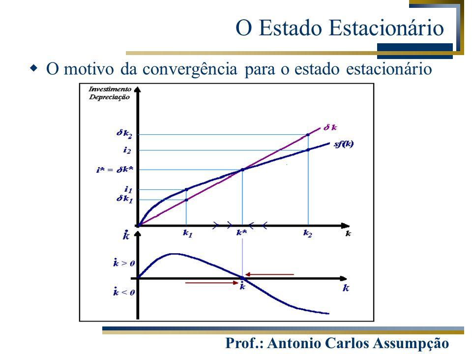 Prof.: Antonio Carlos Assumpção  O motivo da convergência para o estado estacionário O Estado Estacionário