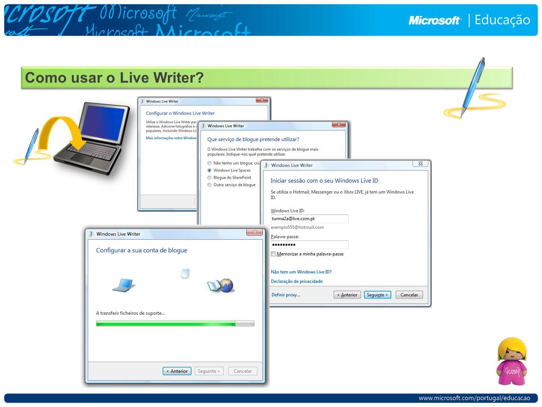 Como usar o Live Writer
