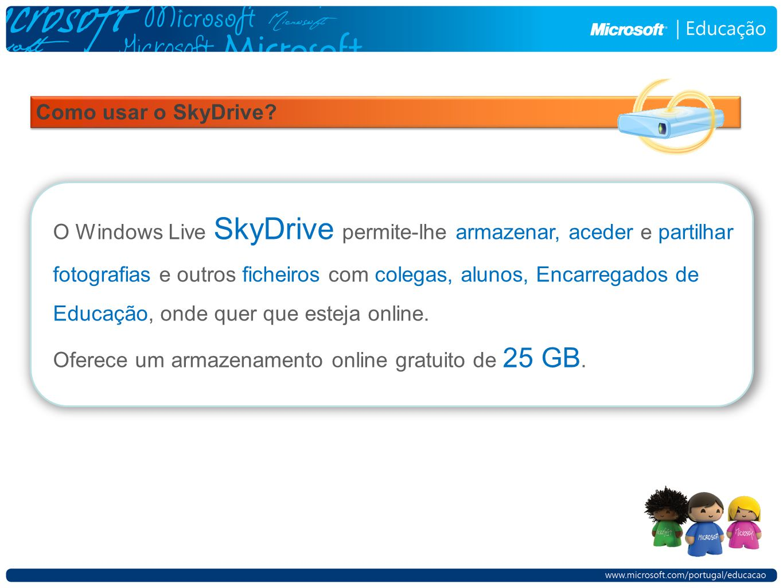 Como usar o SkyDrive.
