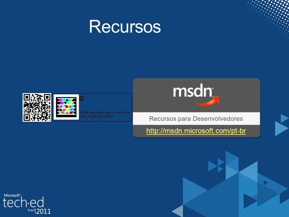 Recursos Recursos para Desenvolvedores http://msdn.microsoft.com/pt-br