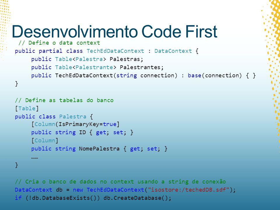 Desenvolvimento Code First